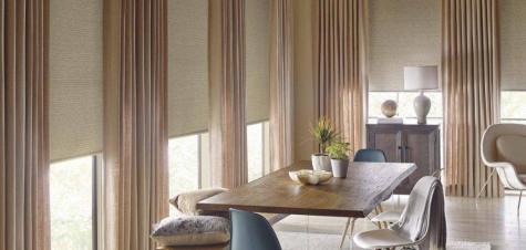 cortinas de tela beige