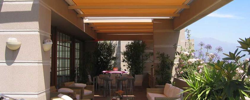 Toldos para exteriores y terrazas